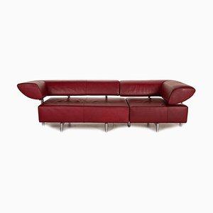Sofá de cuero rojo de Cor Arthe