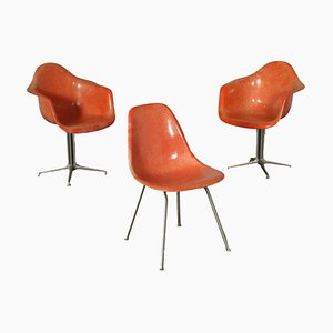 Aluminium Fibreglass Chairs by Charles & Ray Eames for Herman Miller, 1960s, Set of 3