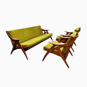 Juego de sillones holandés vintage de De Ster Gelderland