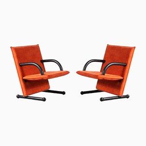 T-Line Stühle von Burkhard Vogtherr für Arflex, Italy, 1980er, 2er Set