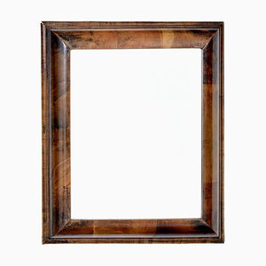 Viktorianischer Spiegel mit Rahmen aus Nussholz, 19. Jh