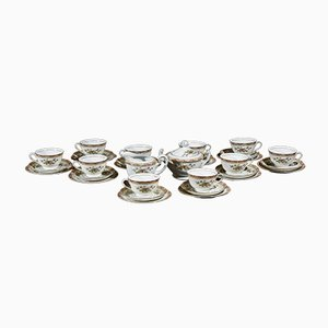 10-Person Tea Service Including Cups with Saucers, Milk Jugs and Sugar Bowls from HHP, Japan, 1950s, Set of 32