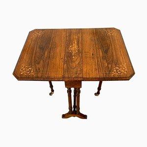 Antiker edwardianischer Sutherland Tisch aus Palisander mit Intarsien