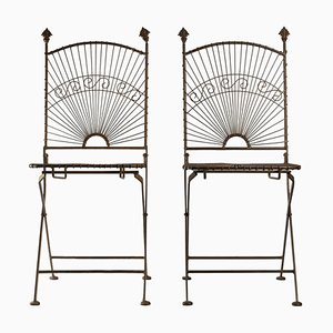 Metal Chairs, Set of 2