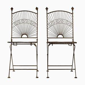 Metallstühle, 2er Set