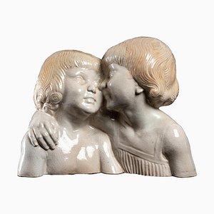 Escultura figurativa de porcelana de N. Nicot