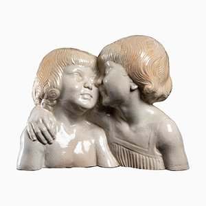 Porcelain Figural Sculpture by N. Nicot