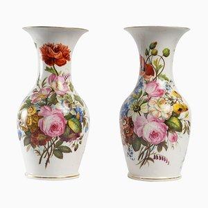 Louis Philippe Porcelain Vases, Set of 2