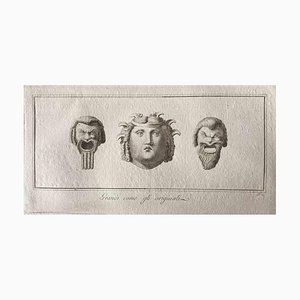 Divers Maîtres Anciens, Têtes Humaines, Gravure, Fin 18ème Siècle