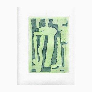 Inconnu, Composition, Lithographie sur Papier, Milieu du 20ème Siècle