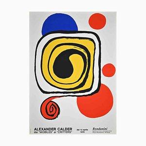 Póster de exposición vintage, Desconocido, A. Calder, 1976