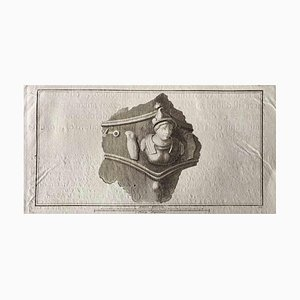 Aguafuerte, varios maestros antiguos, busto romano antiguo, finales del siglo XVIII