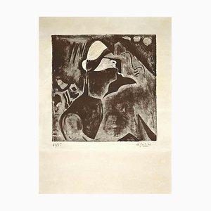 Jean-Pierre Le Boulet, Portrait of Man, Lithograph, 1940