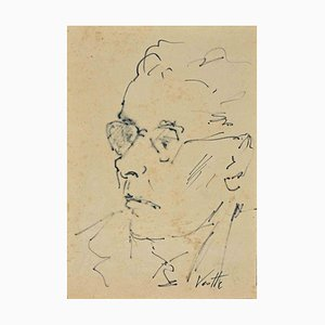 Georges Vernotte, Ritratto, Disegno a penna, 1950