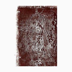 Desconocido, Figure in the Brown, Litografía, años 70