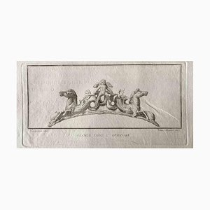 Aguafuerte, varios antiguos maestros, marco de la antigua Roma