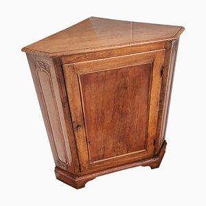 Mueble esquinero francés Directorio tallado, siglo XX