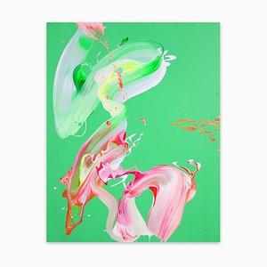 Profumo di menta, pittura astratta, 2021