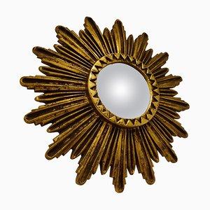 Specchio Mid-Century dorato, anni '60