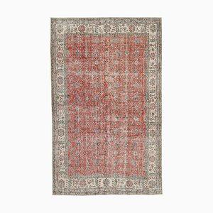 Türkischer Vintage Rotbereich Teppich