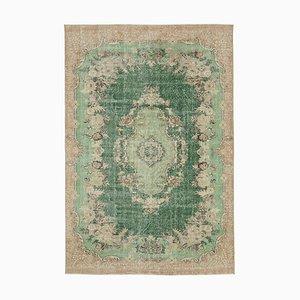 Türkischer Vintage Grünbereich Teppich