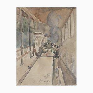 Alfréd Reth, Au comptoir du café, 1916