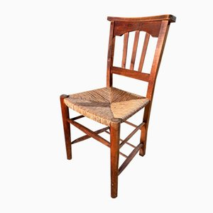 Antique Mahogany Rush Seated Sussex Dining Chairs