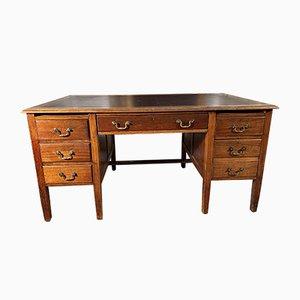 Antique Georgian Mahogany & Leather Desk
