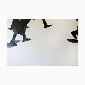 Anna Malikowska Run, Acrilico figurativo contemporaneo su tela, 2014