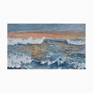 Penny Rumble, Western Promise, A Good Day Beckons, Large Seascape Oil Painting, 2021