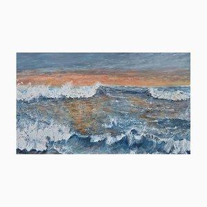 Penny Rumble, Western Promise, A Good Day Beckons, Pintura al óleo grande de paisaje marino, 2021