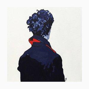 Anna Malikowska, rojo figurativo, acrílico sobre lienzo, 2017