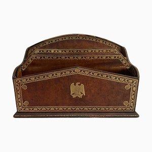 Vintage Schreibtisch Papier Schublade mit Adler Wappen