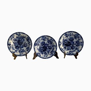 Set of Three Victorian Dishes, Porcelain Wedgwood, Water Nymph, 1800