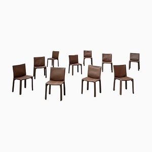 412 Cab Dining Chairs by Mario Bellini for Cassina, 1977, Set of 10