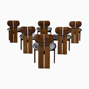 Africa Esszimmerstühle von Afra & Tobia Scarpa für Maxalto, 1975, 6er Set