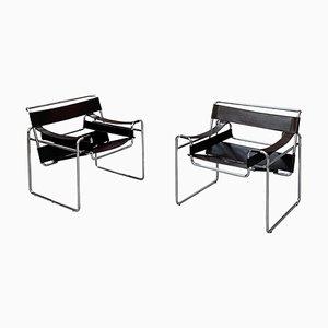 Sillas B3 Wassily Bauhaus de Marcel Breuer para Gavina Knoll, 1971. Juego de 2