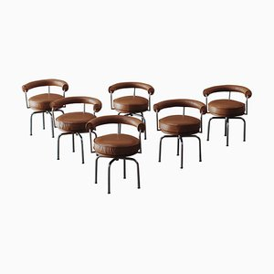 LC7 Dining Chairs by Charlotte Perriand for Cassina, 1927, Set of 6