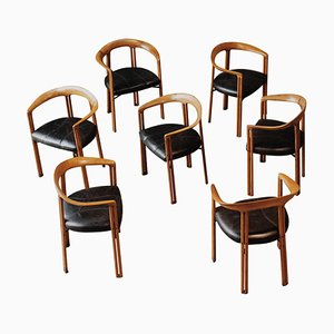 Ulna Dining Chairs by Franco Poli for Bernini, 1986, Set of 7