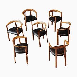Ulna Esszimmerstühle von Franco Poli für Bernini, 1986, 7er Set
