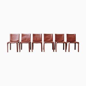 412 Cab Esszimmerstühle von Mario Bellini für Cassina, 1978, 6er Set
