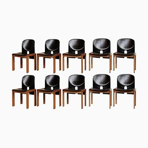 121 Esszimmerstühle von Afra & Tobia Scarpa für Cassina, 1968, 10er Set