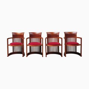 Barrel Chairs by Frank Lloyd Wright for Cassina, 1937, Set of 4