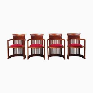 Barrel Stühle von Frank Lloyd Wright für Cassina, 1937, 4er Set