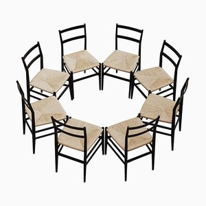 646 Leggera Dining Chairs by Gio Ponti for Cassina, 1952, Set of 8