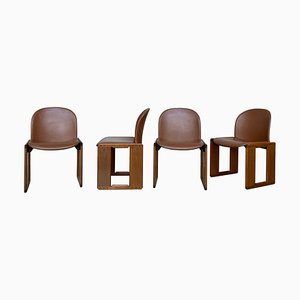 Dialogo Esszimmerstühle von Afra & Tobia Scarpa für B&B Italia, 1974, 4er Set