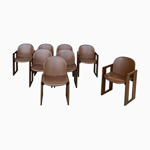 Dialogo Dining Chairs by Afra & Tobia Scarpa for B&B Italia, 1974, Set of 8