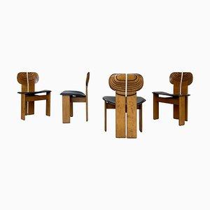 Africa Esszimmerstühle von Afra & Tobia Scarpa für Maxalto, 1975, 4er Set