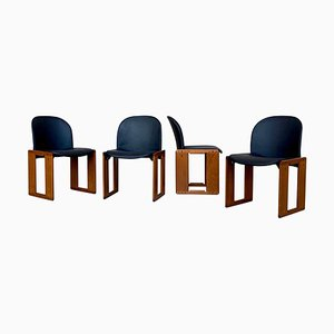 Dialogo Dining Chairs by Afra & Tobia Scarpa for B&B Italia, 1974, Set of 4