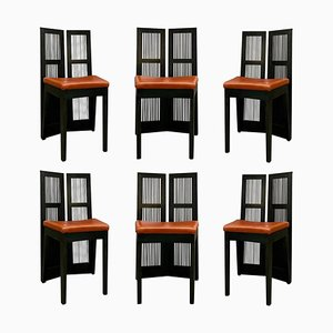 Lubekka Dining Chairs by Andrea Branzi for Cassina, 1991, Set of 6